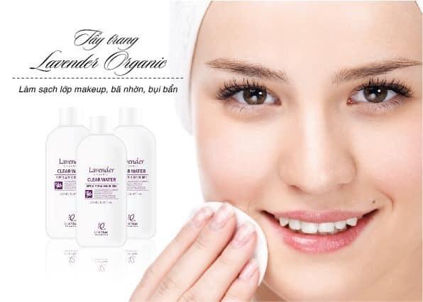 Những công dụng tuyệt vời mà nước tẩy trang Lavender Organic mang lại.