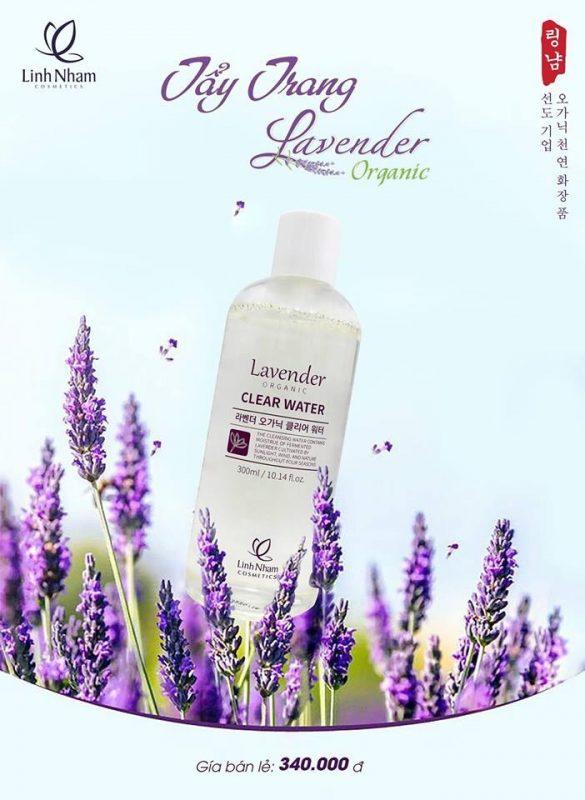 Nước tẩy trang Lavender Linh Nhâm giúp làm sạch lớp bui bẩn, trang điểm mà hoàn toàn không gây kích ứng cho da mụn và nhạy cảm.